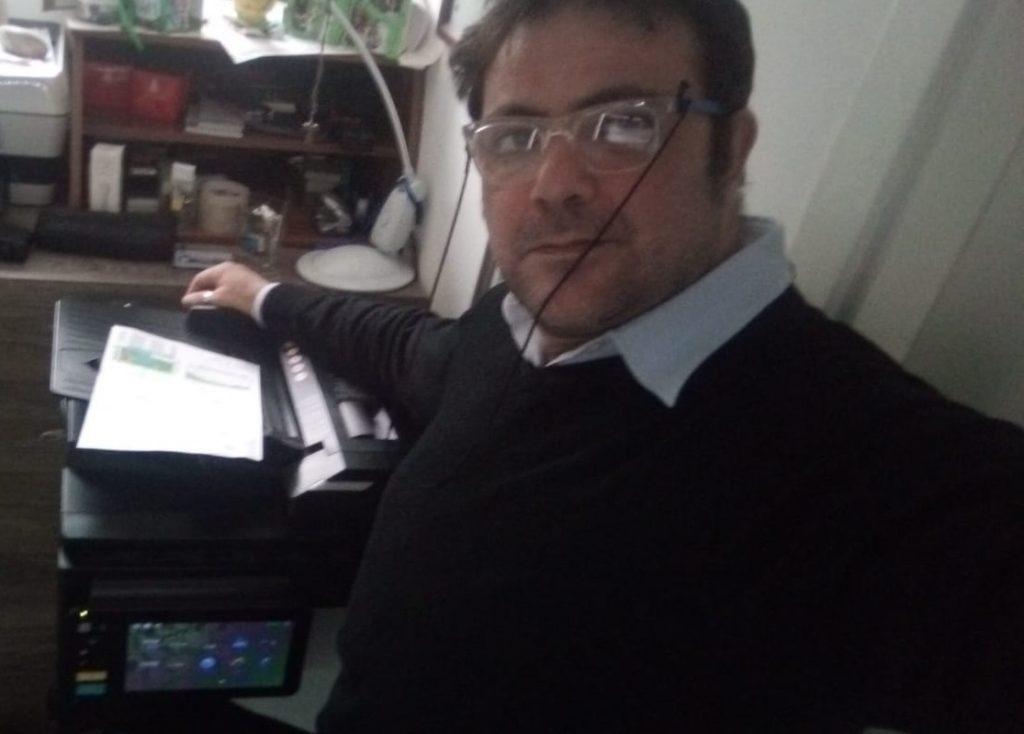 Ing. De Rosa Sergio con la sua stampante multifunzione Toshiba e-STUDIO2000AC